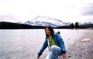 冰冷的湖水
