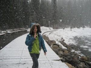 雪中的露易絲湖